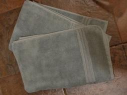 2 HOTEL COLLECTION TURKISH COTTON HAND TOWELS IN VAPOR   NEW