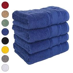 Qute Home 4 PACK Bath Towels Set | Premium Quality Luxury Tu
