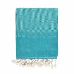 Brielle Home Fashion Tan 100% Cotton Turkish Peshtemal Towel