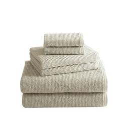 Brielle Home Grayson 6-Piece Textured Turkish Cotton Towel S