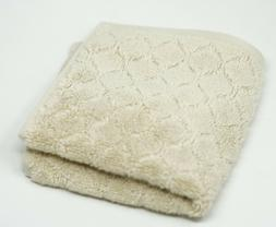 Hudson Park Turkish 100% Cotton Sculpted Ogee Washcloth / Fa