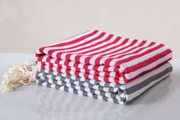 Luxury Hencely Beach Towels, 100% Turkish Cotton Soft Lightw