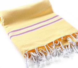 Cacala Pestemal Turkish Bath Towels Striped for Beach Sauna