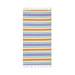 Rainbow Colorful Beach Towel, 100% Turkish Cotton Soft Bath
