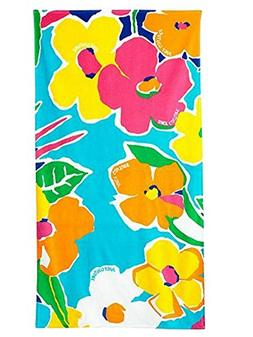 Juicy Couture Tropical Flower Turkish Cotton Velour Beach To