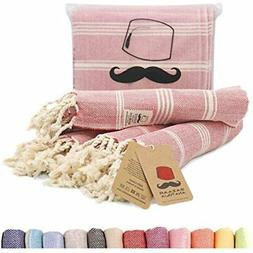 Turkish Hand Towel Set Of 4 Peshtemal 100% Cotton 45x20 Ligh