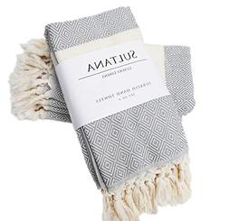 Sultana Luxury Linens Turkish Hand Towels Set of 4 |Eco-Frie