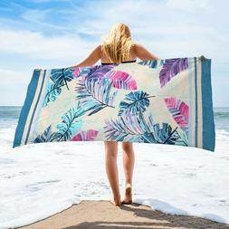 Palm Leaves Beach Towel | 100% Turkish Soft Luxury Cotton To